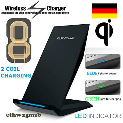 10W Qi Kabellos Induktive Ladestation Wireless Charger Samsung S7 S8+ S9 Note 8