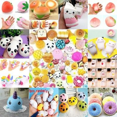 50x Fast food Hard NOT Squishy Charms Squeeze Slow Rising Toy Gift Dulcet LOT