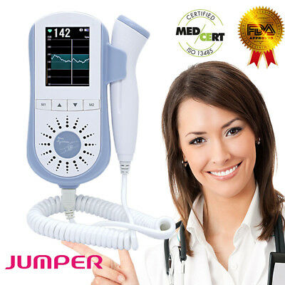 Jumper Baby Heart Beat Colorful LCD Display 2.5MHz Probe Pregnant Moinor Decvice