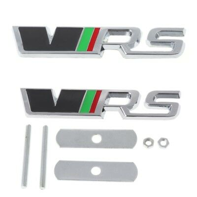 Metal Auto Car VRS Grill Logo Badge Emblem Rear Trunk Sticker Set For Skoda New