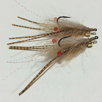 BWC flies Easy Shrimp flies for  flyfishing Bream EP Whiting Flathead
