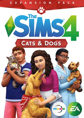 The Sims 4: Cats and Dogs Expansion PC & Mac [Origin Key] No Disc/box