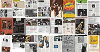 LED ZEPPELIN : CUTTINGS COLLECTION -adverts-