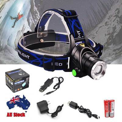 12000LM LED Headlamp Rechargeable Headlight CREE XML T6 Head Torch light lamp ER