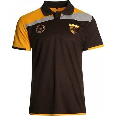 Hawthorn Hawks 2017 AFL Mens Premium Polo Shirt BNWT Footy Clothing