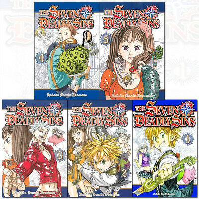 Seven Deadly Sins Series 1 : 1 to 5 Nakaba Suzuki 5 Books Collection Set Pack PB