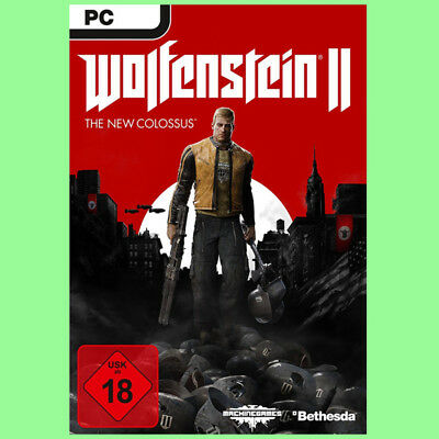 Wolfenstein 2 II The New Colossus PC Spiel Key - Steam Digital Download Code DE
