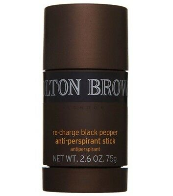 Molton Brown Black Pepper Anti Perspirant Deodorant Stick 75g New Antiperspirant