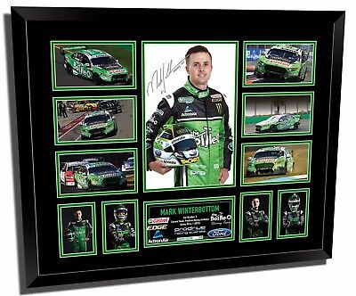 Mark Winterbottom 2017 V8 Supercars Signed Limited Edition Framed Memorabilia