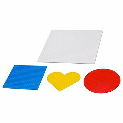 PYSSLA Pegged Bead Shape Board Set of 4 Assorted Colours Ironing IKEA