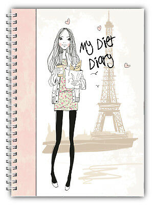 Diet Diary Slimming Tracker Food Diary Weight Loss A5 Journal Coffee Girl