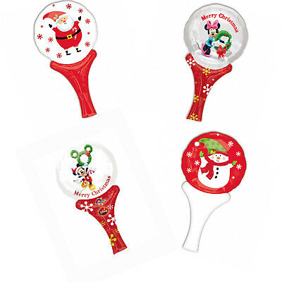 Christmas Stocking Fillers Inflate-A-Fun Air Fill Mini Hand Foil Balloons