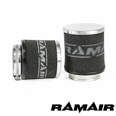 40mm ID Neck - Chrome Cap Motorcycle Pod Air Filter