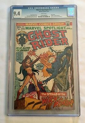 Marvel Spotlight #11 Comic Book White Pages CGC 9.4 Ghost Rider Witch-Woman