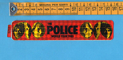 THE POLICE WORLD TOUR 1980 - ADESIVO/STICKER 5033-VINTAGE anni 80 - cm.3X15