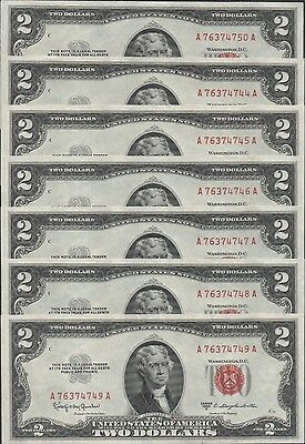 US Note $2  Series of 1963c  P 382d Red Seal Uncirculated Banknote