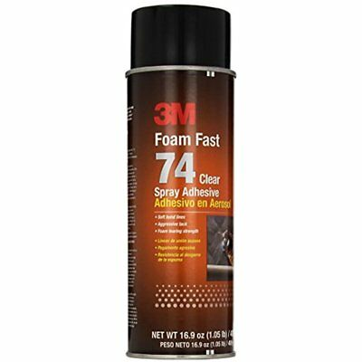 Foam Fast 74 Spray Adhesive Clear, (Net Fill: 16.9 Fl Ounce)(Pack Of 1)