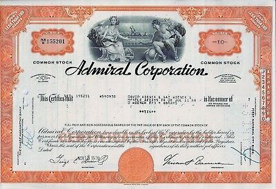 Admiral Corporation, Delaware 1970  (10 Shares)