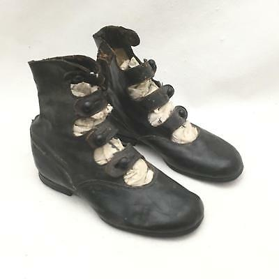 Antique High Top Button Child's Shoes Roberts, Johnson & Rand Shoe Co JEWEL