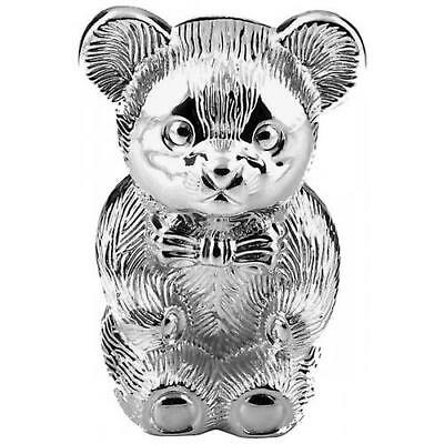 New Silver Plated Bear Shape Money Bank For Babies