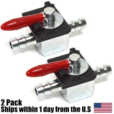 "(2) Fuel Shut-Off Valve for 1/4"" Fuel Line Replaces Scag 48568 Oregon 07-403"