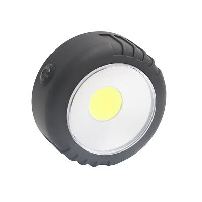 Mini COB LED Round Work Light Magnetic Flashlight Lamp Hook Car Repair Torch