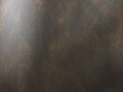 Dark Brown Vinyl Distressed Leather Upholstery Fabric Premium Quality