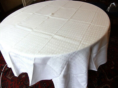 Tablecloth period Deco Art 1m70 x 1m60 in damask linen