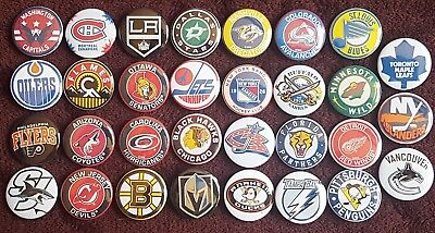 National Hockey League NHL Button Badges. Pins. Collector. Bargain. 25mm in size