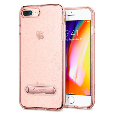 For iPhone 8 Plus / 7 Plus Spigen® [Crystal Hybrid Glitter] Shockproof TPU Case