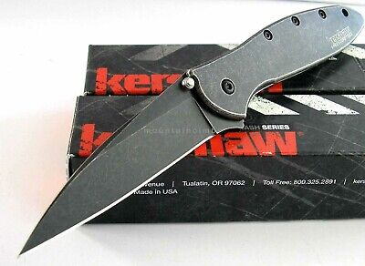Kershaw Leek BLACKWASH 1660BLKW Speed Assisted Opening Knife NEW IN BOX USA