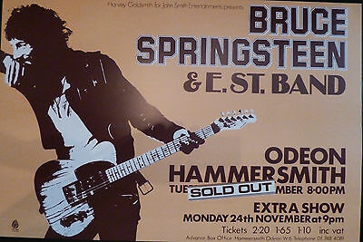Bruce Springsteen Hammersmith Odeon 1975 concert poster large A1 Size reprint