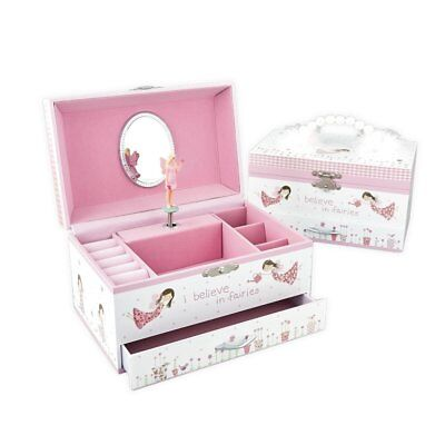 Girls Fairy Blossom Musical Jewellery Box - Think Pink