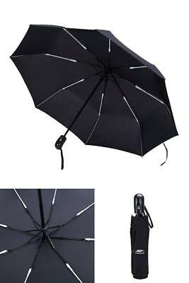 Compact Travel Strogly Windproof Umbrella Auto Open Close Folding Rain Anti UV