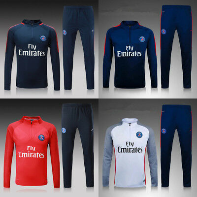New Kids Boys PSG Soccer Tracksuit Survetement Football Sportswear Training Suit