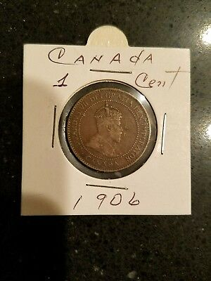 Canada 1906 1908 1909 1 Cent Large Coins King Edward /w Holder