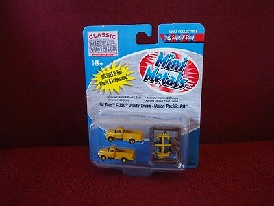 *NEW* Mini-Metals pack of 2 Union Pacific RR Ford F-350 Utility Trucks + details