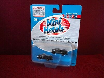 *NEW* Mini-Metals pack of 2 New York Central Ford F-350 MoW Pickup Trucks