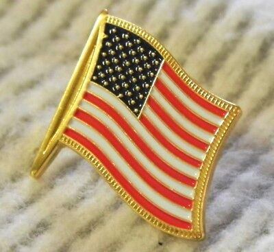 USA Flag Lapel Pin American hat HIGH QUALITY like jewelry gold fringe detail