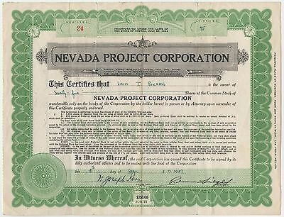 Gangster Benjamin Bugsy Siegel Signed Stock Certificate for Shares of Flamingo