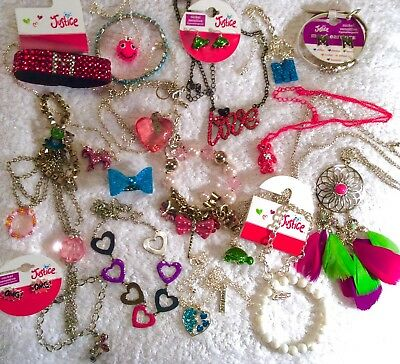 Lot Of 25 Justice Betsey Johnson Necklace Bracelet Earrings Charm M Initial