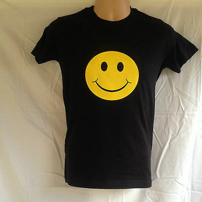 Acid House Smiley Face T-Shirt I LOVE RAVE 100 % Cotton