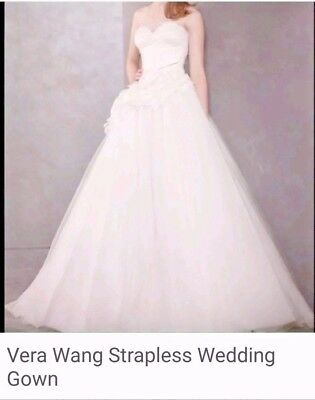 VERA WANG STRAPLESS corset wedding gown Size 14 - $350.00 | PicClick