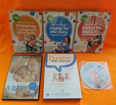 Dunstan Baby Language DVD - 7 DVDs guides on caring your baby - as NEW