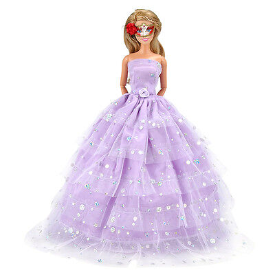 1PC Doll Clothes Wedding Dress Evening Party Gown For Barbie Dolls Tackle#