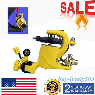 Pro Beauty Rotary Motor Tattoo Machine Gun Supply Set For Liner & Shader New US