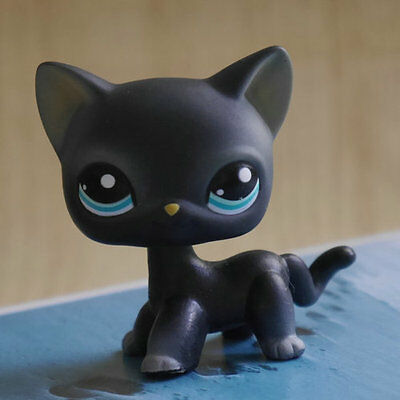 LPS COLLECTION Action Figure gift  BLACK cat kitty 2 inch LITTLEST PET SHOP #994