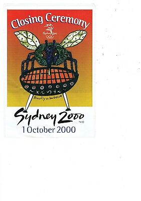 Sydney olympics 2000 closing ceremony sticker - large  M19