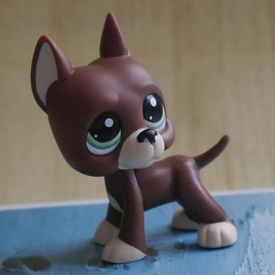 """LPS Great Dane green eyes COLLECTION LITTLEST PET SHOP 2"""" DOG TOY #1519"""
