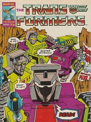 Marvel UK The Transformers #61 (1986) Rare British Weekly Comic